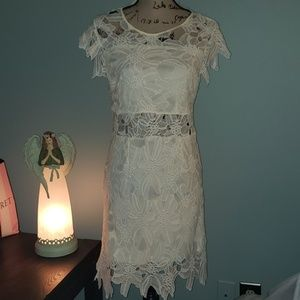 New romeo + juliet couture woven ivory lace dress